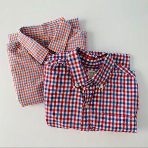 J.Crew Crewcuts Plaid Button Down Shirts, Set of 2